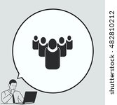 group of people icon  friends... | Shutterstock .eps vector #482810212