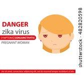 zika symptom graphic design ... | Shutterstock .eps vector #482820598