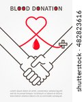 blood donation handshake vector ... | Shutterstock .eps vector #482823616