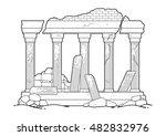 graphic half ruined... | Shutterstock .eps vector #482832976