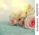 fresh roses flowers | Shutterstock . vector #482833795