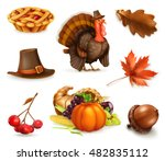 happy thanksgiving cartoon... | Shutterstock .eps vector #482835112