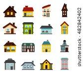 flat house icons set. universal ...