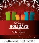 card gift merry christmas and... | Shutterstock .eps vector #482850412