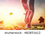 athlete's foots close up on... | Shutterstock . vector #482851612