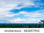 beautiful landscape with trees... | Shutterstock . vector #482857942