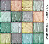 seamless leather patchwork... | Shutterstock . vector #482859472
