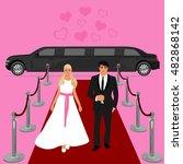 wedding  bride and groom ... | Shutterstock .eps vector #482868142