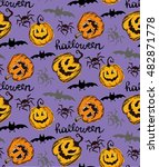 seamless pattern for halloween. ... | Shutterstock .eps vector #482871778