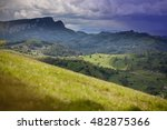 carpatians mountains in spring... | Shutterstock . vector #482875366