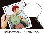 stock illustration. people in... | Shutterstock .eps vector #482878222