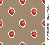 seamless pattern of realistic... | Shutterstock .eps vector #482879668