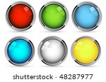 vector web buttons set over... | Shutterstock .eps vector #48287977