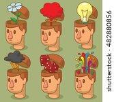 vector set of cartoon images of ... | Shutterstock .eps vector #482880856