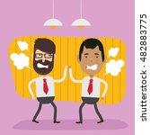businessman employee concept... | Shutterstock .eps vector #482883775