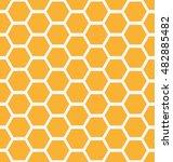 orange seamless honey combs...   Shutterstock .eps vector #482885482
