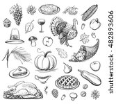 a collection of drawing... | Shutterstock .eps vector #482893606