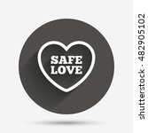 safe love sign icon. safe sex... | Shutterstock .eps vector #482905102