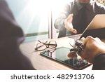 medical technology network team ...   Shutterstock . vector #482913706