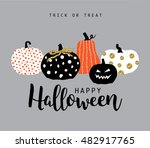 happy halloween | Shutterstock .eps vector #482917765
