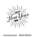 happy new year 2017 text design.... | Shutterstock .eps vector #482918302