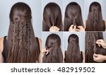 tutorial photo step by step of... | Shutterstock . vector #482919502