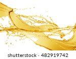 orange water splash isolated on ... | Shutterstock . vector #482919742