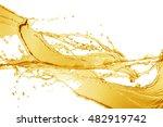 Orange Water Splash Isolated O...