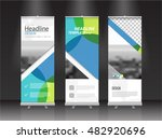 roll up banner stand vector... | Shutterstock .eps vector #482920696