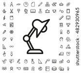 table lamp icon illustration... | Shutterstock .eps vector #482930965