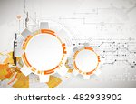 abstract background with... | Shutterstock .eps vector #482933902