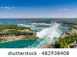 aerial view of niagara... | Shutterstock . vector #482938408
