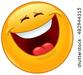 emoticon laughing out loud with ... | Shutterstock .eps vector #482944315
