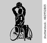 disabled basketball player.... | Shutterstock .eps vector #482952805