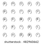 human mind icon in thin line... | Shutterstock .eps vector #482960662