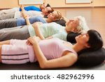 senior and group during... | Shutterstock . vector #482962996