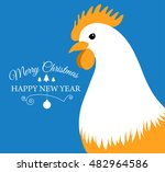 merry christmas e card with... | Shutterstock .eps vector #482964586