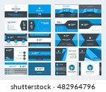 set of modern creative business ... | Shutterstock .eps vector #482964796