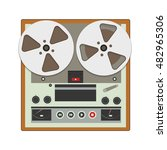 reel to reel recorder with... | Shutterstock .eps vector #482965306