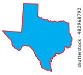 a map of the the state  texas | Shutterstock .eps vector #482968792