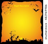 happy halloween design... | Shutterstock .eps vector #482969986