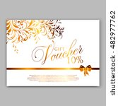 gold sparkles on white... | Shutterstock .eps vector #482977762