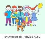 happy family | Shutterstock .eps vector #482987152