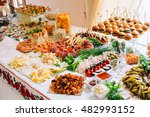 Buffet Table Of Reception With...
