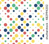 seamless polka dot pattern with ... | Shutterstock .eps vector #482994202