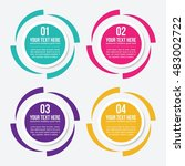 infographic design elements for ... | Shutterstock .eps vector #483002722