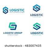 vector logo template for... | Shutterstock .eps vector #483007435