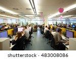 moscow   jun 03  2015  staff in ...   Shutterstock . vector #483008086