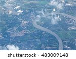 river of thailand in top view... | Shutterstock . vector #483009148