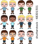 boys   vector illustrations | Shutterstock .eps vector #48301501